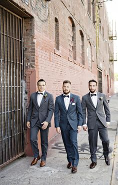 Slate+Blue+and+Gray+Groom+and+Groomsmen+|+Andie+Freeman+Photography