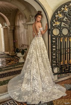 berta spring 2019 bridal off the shoulder sweetheart neckline full embellishment romantic a line wedding dress open back chapel train (1) bv -- Berta Spring 2019 Wedding Dresses | Wedding Inspirasi #wedding #weddings #bridal #weddingdress #bride ~