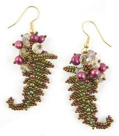 MGS Designs - Beadwork by Melissa Grakowsky Shippee: 2nd Exclusive Etsy pattern-Fern Earrings