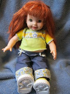 "2001 16"" Red Haired Jenny Doll Friend of Kelly Barbie My Size Cuddly Soft Cloth Vinyl 