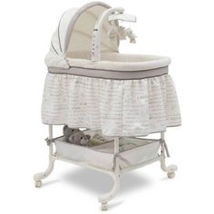 Simmons Slumber Time Gliding Bassinet Nursery Rhyme Simmons ❤ liked on Polyvore featuring baby