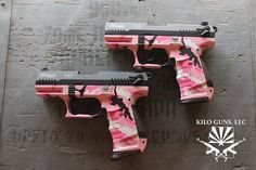 Pink camo pistol. #pink #pistol #girlswithguns
