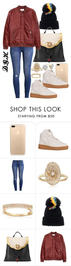 """Fall Vibes."" by dopegenhope ❤ liked on Polyvore featuring NIKE, 7 For All Mankind, Ross-Simons, Eugenia Kim, Gucci and Monica Vinader"