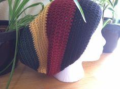 Rasta/Reggae (red/yellow/green) Slouch hat beanie beret - handmade crochet
