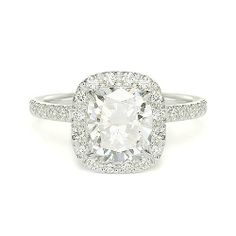 1.86 ct I VS1 CUSHION CUT DIAMOND ENGAGEMENT RING 14k http://www.larrysfinejewelryinc.com