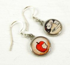 Hand-painted watercolor jewelry by  Sarah-Lambert Cook.