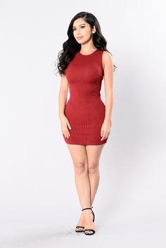Payton Dress - Burgundy