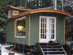 Located in the forest on Hornby Island, this little house on wheels is inhabited by myself, two cats, and a chihuahua. After university, I realized that building a tiny house would be an attainable way to have a private and . Building A Tiny House, Tiny House Cabin, Tiny Houses, Little Houses On Wheels, Tin Shed, Save For House, Stone Cottages, Hawaii Homes, Pole Barn Homes