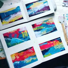 Today's little art journal abstracts. I love colour mixing it's so meditative! #abstractart #abstract #artjournal #artjournaling #artist #bloomsburyartist #londonartist #irisimpressionsart