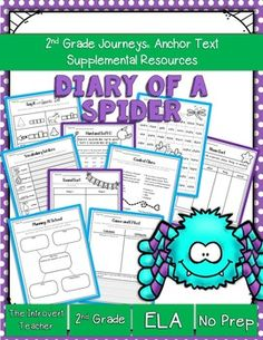 This packet has everything you'll need to enhance your instruction for Diary of a Spider with NO PREP(2nd Grade Journeys Reading Series Unit 1, Lesson 4). These resources meet Common Core State Standards and keep students engaged and having fun! Perfect for the busy teacher!SAVE BIG!