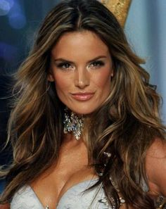28 fabulous lob hairstyles youll want to copy now lob brown hair with highlights alessandra ambrosio pmusecretfo Gallery