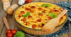 Recette de Quiche sans pâte tomates cerise et fromage de brebis. Facile et rapide à réaliser, goûteuse et diététique.
