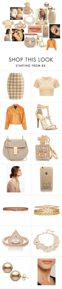 """#58"" by astrangeevent on Polyvore featuring Chicwish, ROKH, Jessica Simpson, Chloé, NOVA, Rifle Paper Co, Lucky Brand, Treasure & Bond, Eva Fehren and Oscar de la Renta"