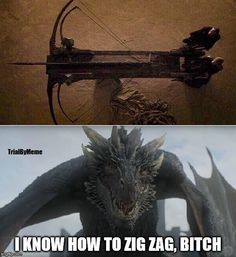 That Bitch better not kill those dragons.......