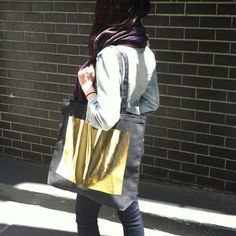 THE GOLD TOTE by totescool on Etsy