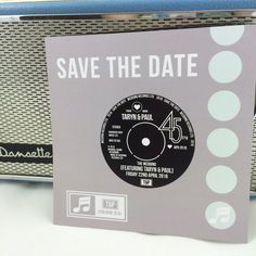 Wedding Save The Date Cards - Vinyl Record Design