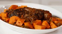 This isn't your average pot roast recipe. Switch out regular potatoes for sweet potatoes, and add 1 tablespoon of instant espresso to the broth to make a pot roast your family won't soon forget./