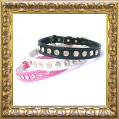Glamour puss cat collar, with sparkling crystals
