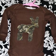 Camo Deer Onesie, Camo Deer Tshirt, for boy or girl,  Customized, Baby Shower Gift, Birthday Gift, Onesie or  Deer Toddler T-Shirt on Etsy, $24.00