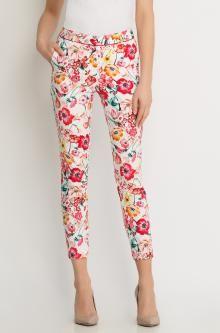 Květované kalhoty zkrácené délky