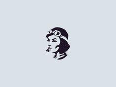 Aviator designed by Cajvanean Alexandru. Minimal Logo Design, Graphic Design, Plane Drawing, Diy 3d, Logo Face, Coffee Logo, Bear Logo, Badge Design, Love Illustration