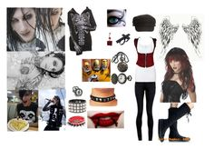 """A Girl for Chris (Cerulli) Motionless -Secret Fantasy ;D-"" by bvb666him ❤ liked on Polyvore featuring AX Paris, Nixon, Topshop, Splendid, Switchblade Stiletto, Sebastian Professional, studded bracelets, bracelets, music and motionless in white"