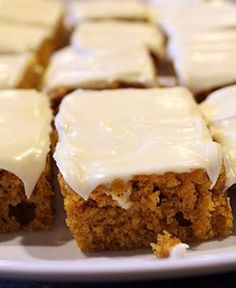 Pumpkin Bars ~ These are amazing!