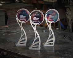 Custom Metal Trophies Designed for your Event by RefineriiStudio