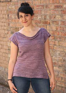 Nesoi Tee by Miriam Felton, knit in Anzula Breeze