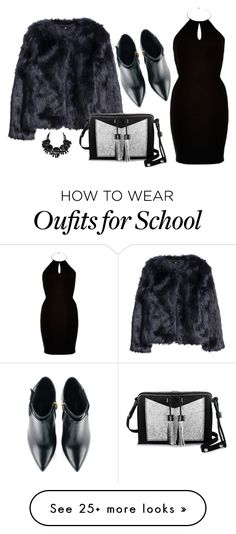 """Go to the school"" by kozma-kincso-eszter on Polyvore featuring H&M, Carianne Moore, Kim Kwang and River Island"
