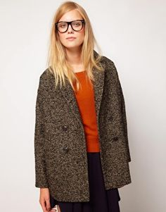 NW3 Birch Tweed Double Breasted Coat