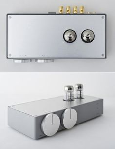 Vacuum tube amplifier designed by Koichi Futatsumata of Case-Real, for high-end audio equipment manufacturer Elekit.