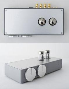 Vacuum tube amplifierdesigned byKoichi FutatsumataofCase-Real, for high-end audio equipment manufacturerElekit.