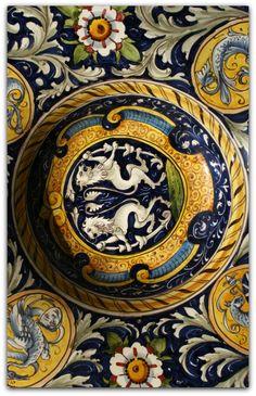 Italian Pottery, Lucca, Tuscany, Italy
