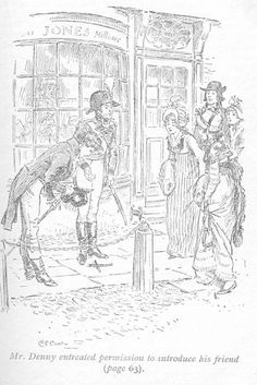 Mr. Denny entreated permission to introduce his friend - From undated Nelson and Sons edition of Pride and Prejudice