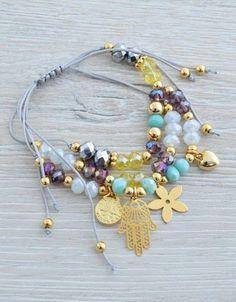 Gemstone Jewelry, Beaded Jewelry, Handmade Jewelry, Cute Bracelets, Jewelry Bracelets, Jewelry Accessories, Jewelry Design, Boho Stil, Diy Necklace