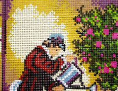 NEEDLEPOINT CANVAS// Gardner by Rico by MyStitchingGarden on Etsy