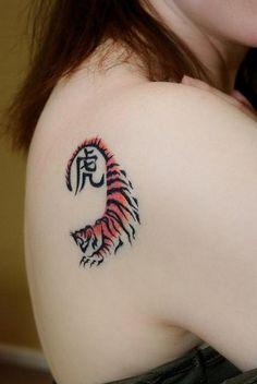 Tiger Tattoo Designs That Will Blow Your Mind Away - Beste Tattoo Ideen Trendy Tattoos, Cute Tattoos, Unique Tattoos, Beautiful Tattoos, New Tattoos, Small Tattoos, Tattoos For Women, Tattoos For Guys, Dragon Tattoos
