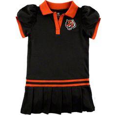 Cincinnati Bengals Infant Black Polo Dress #bengals #cincinnati #nfl