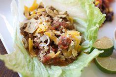 Low Carb Taco Lettuce Wraps (just sub 1tsp brown sugar for liquid splenda and sub tom sauce for sugar free)