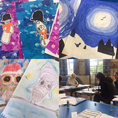 West Bridgford Infant School school christmas card artwork