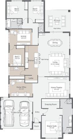 New Home Designs Perth   Explore New House Designs & Prices Duplex Floor Plans, Home Design Floor Plans, House Floor Plans, 4 Bedroom House Plans, New House Plans, Modern House Plans, Design Your Dream House, Modern House Design, House Construction Plan