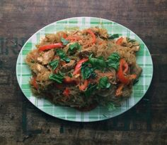 singapore-style noodles with chicken, peppers & basil….and a Mark Bittman cookbook giveaway!!