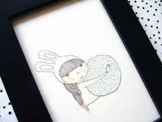 Little Lucky Stone - Print