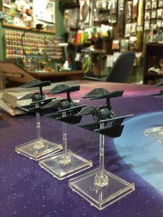 TIE Defenders. X-Wing Miniatures Game.