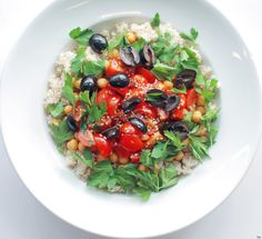 Ceci, Couscous e Pomodori Ciliegini