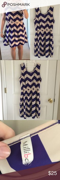 Blue purple chevron dress! Cute chevron dress perfect for summer and spring! The Rage Dresses