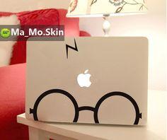 Harry Potter-Macbook Decals Macbook Stickers Mac Cover Skins Vinyl Decal for Apple Laptop Macbook Pro/Macbook Air/Uniboday Partial skin. $8.99, via Etsy.