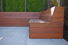 HOW TO CREATE A BUILT IN SEAT IN YOUR OUTDOOR AREA To build in a seat like this is smart because it maximises the amount of space that you have. 1. Use a hardwood timber that withstands the weather. 2. Ensure there is a slope on the backrest for comfort. 3. Create storage inside by having a seat that lifts (if at all possible) #builtinseating #outdoorseating #builtin http://www.carmendarwin.com