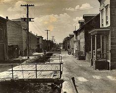 Street in Mahanoy city. Schuylkill County, Pennsylvania. 1938-1939